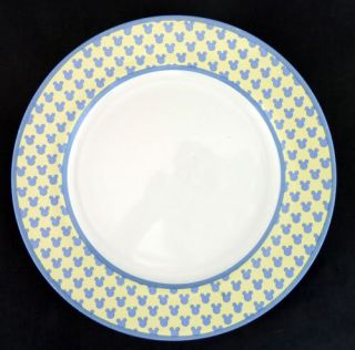 Disney Mickey's Diner Dinner Plate Mickey Mouse Head and Ears Silhouette Pattern