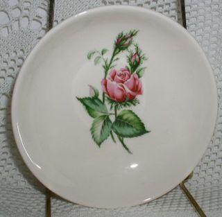 Ark Crest Dinnerware Fruit Berry Bowl Floradora Rose Pink Rose Light Crazing