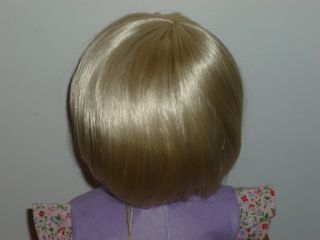"""Wig Blonde Short Hair Bangs Size 10 11 FITS18"""" American Girl Doll New in Box"""