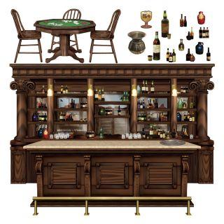 Wild West Saloon Bar Scene Setter Prop Saloon Drinks