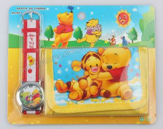 1pc Cartoon Watch Wallet Thomas Winnie The Pooh Transformers Mario Bros 32100