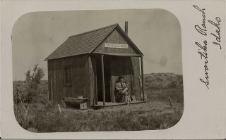 1909 Old West Cabin Real Photo Swastika Ranch Idaho