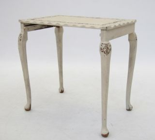 Nest of Tables Carved Solid Wood Painted Shabby Chic Moroccan Vintage