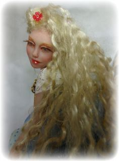 Alice in Wonderland Sculpture Art Doll OOAK Vicci Noel Fotk Iadr