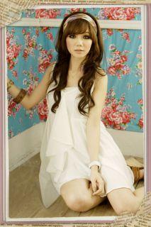 Sexy Girls Summer Short White Dress Cute Hot Junior Babydoll Fashion Mini Dress