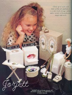 Fashion Doll Dream Home camper Plastic Canvas Patterns Fit Barbie Dolls