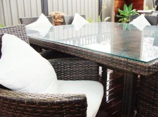 Jakarta 8 Seater Wicker Dining Table Outdoor Furniture