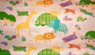 "Baby Jungle Unisex Baby Rag Quilt Kit 84 6"" Squares DIY Ready to Sew"
