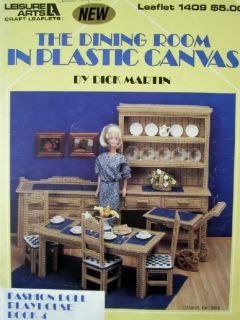 The Dining Room in Plastic Canvas Pattern Book Fashion Doll Playhouse Book 4
