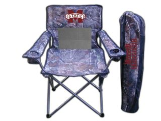 Mississippi State Outdoor Junior Tailgate Real Tree Camo Chair with Cup Holder