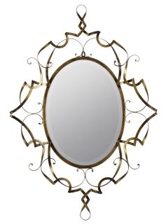 Carter Antique Gold Metal Beveled Wall Mirror Large 37 75''