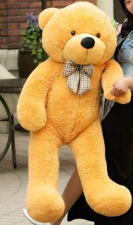 Giant 120cm 47'' Big Cute Brown Plush Teddy Bear Huge Soft 100 PP Cotton Toy Le