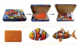 Remote Control RC Flying Clown Fish Inflatable Air Swimmer Blimp Balloon Toy New