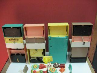 Vintage 1960's Deluxe Reading Barbie Doll Dream Kitchen Set Doll Furniture