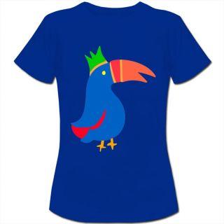 Bright Toucan Bird Cartoon Womens Ladies T Shirt