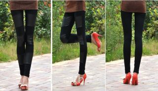 Sexy Ladies Girls' Faux Leather Leggings Pants Black Trouser Tights 9 Styles