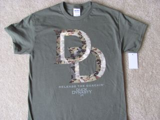 "New Duck Dynasty DD Green Double D ""Release The Quackin'"" Shirt Mens Sz s 2XL"