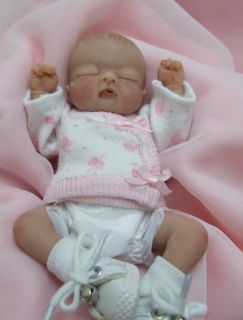 OOAK Sculpted Baby Girl Polymer Clay Art Doll Collectible