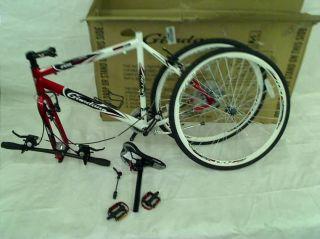 "Giordano RS700 Hybrid Bike 23"" Frame Red White Black"