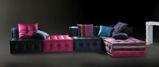 Chloe LS103DA Multi Colored Fabric Sectional Sofa