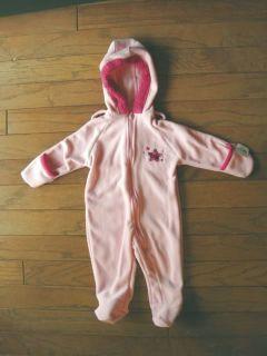Baby Girl Pink Snow Suit Pram Outerwear Size 6 9 Months Okie Dokie Super Star