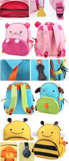 New Cartoon Kids Boys Girls Animal Backpack Zoo School Bag Rucksack Shoulder Bag