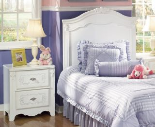 Twin White Panel Bedroom Set Ashley Exquisite Girls Bed