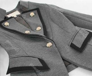 Fashion Womens One Button Frills Slim Suit Blazer OL Jackets Coat Outerwear