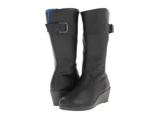 Crocs A Leigh Leather Boot Black Charcoal