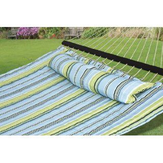 New Hammock Quilted Fabric Detachable Pillow Double Size Spreader Bar Heavy Duty