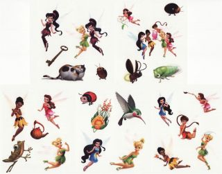 25 Assorted Disney Fairies Tinkerbell Tattoos Birthday Party Supplies Favors