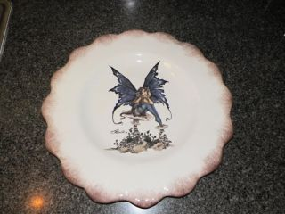 New Kitchen Fairy Large Serving Platter Plate Dish Amy Brown Retired Collection