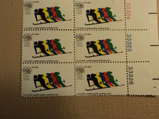 USPS Scott C85 11C XI Olympic Winter Games Sapporo 1972 Plate Block Mint NH