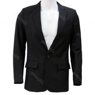 New Korean Mens Fashion Stylish Slim Fit One Button Suit Pants Trousers Set