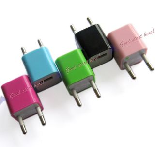 1 5 Color EU USB Wall Home Adapter AC Power Charger for iPhone 3G 3GS 4G 4