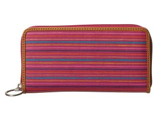 Fossil Key Per Zip Clutch Colorful Stripes