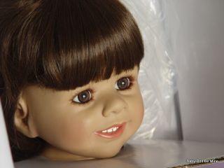 """Masterpiece Delaney Monika Levenig Doll 39"""" Brunette Special Brown Eyes"""