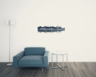New York City Reflection Abstract Metal Wall Art by Ash Carl Modern Home Décor