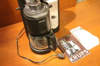 KRUPS KM7005 Grind and Brew Coffee Maker with Stainless Steel Conical Burr Grinder, 10 cup, Black