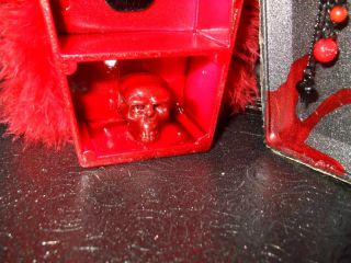 Monster High Barbie Doll Furniture OOAK Coffin Locker Gothic House Decor
