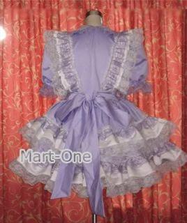 Adult Baby Sissy Dress Crossdresser Purple Tailor Made
