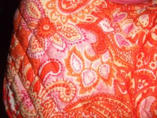 Small Vera Bradley Orange Pink Paisley Amy Purse