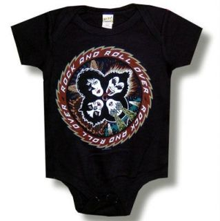 Kiss Hard Rock Heavy Metal Rock All Over Baby Infant Onesie Clothing 24 mos New
