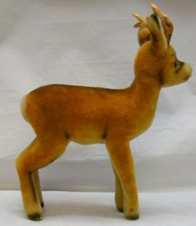 Large Steiff Deer Roebuck with I D Vintage 1335 0 Mohair 1950'S