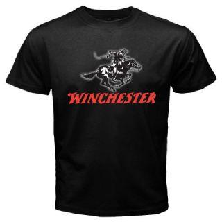 New Winchester Rifle Firearm Pistol Gun Beretta Colt Black T Shirt Size s 3XL