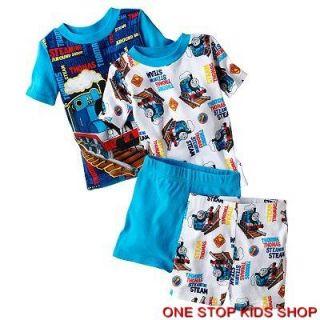 Thomas The Train Toddler Boys 2T 3T 4T PJs Set Pajamas Shirt Shorts Tank Engine