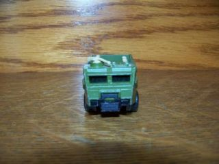 Matchbox Lesney England 1976 Personnel Carrier Army Car Military Toy Vintage