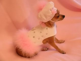 SM Dog Clothes Custom Couture Handmade Harness Hat