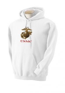 US Marine Corps Eagle Globe Anchor EGA Hooded Sweatshirt Hoodie sweat Shirt