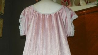 Vtg Lavender Full Peasant Style Nightgown One Size